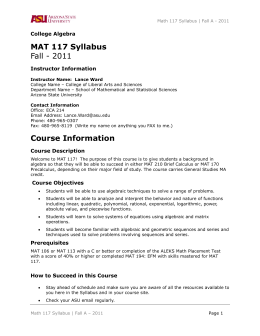 lbst 1b02 fall 2011 syllabus Exam p: probability the syllabus for exam p develops the candidate's knowledge of the fundamental probability tools for quantitatively assessing risk.