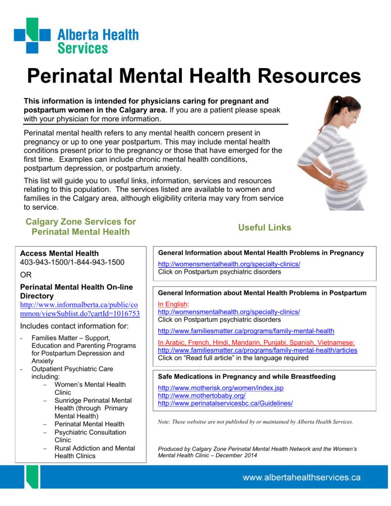 Perinatal Mental Health Resources