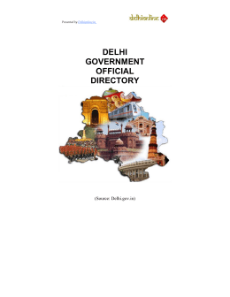 DELHI GOVERNMENT OFFICIAL DIRECTORY