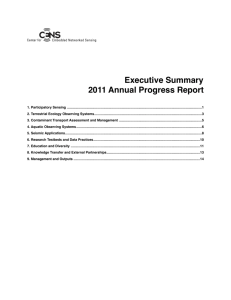 Executive Summary 2011 Annual Progress Report
