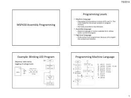 MSP430 Assembly Programming