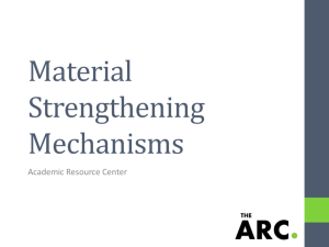 Material Strengthening Mechanisms