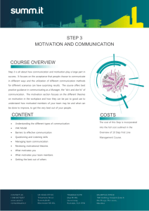 Step 3 – Motivation and Communication