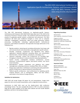 The 2015 IEEE International Conference on Application