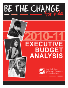 2010-11 Executive Budget Analysis - New York State School Boards