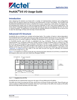 ProASIC3/E I/O Usage Guide