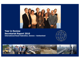 Year in Review Secretariat Report 2010