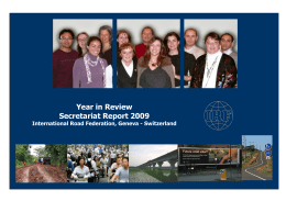 Year in Review Secretariat Report 2009