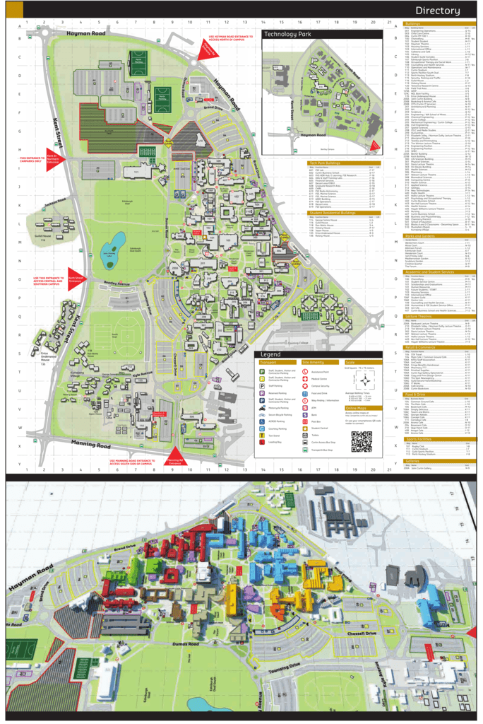 Curtin University Map Bentley Campus Map   Curtin Properties Curtin University Map