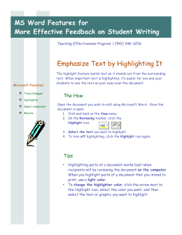 MS Word Features for More Effective Feedback on Student Writing