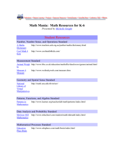 Math Mania: Math Resources for K