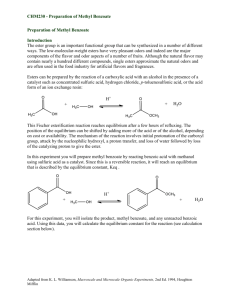 CHM230 - Preparation of Methyl Benzoate