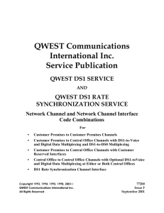 Qwest DS1 Service and Qwest DS1 Rate