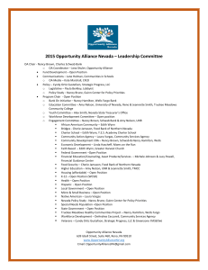2015 Opportunity Alliance Nevada – Leadership Committee