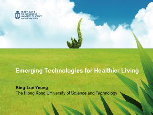 Emerging Technologies for Healthier Living King Lun Yeung