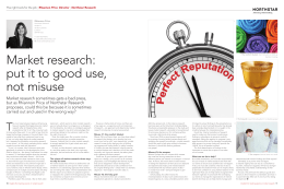 Market research: put it to good use, not misuse