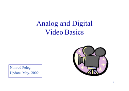 Introduction to Video