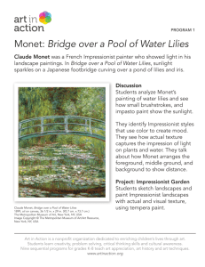 Monet: Bridge over a Pool of Water Lilies