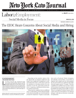The EEOC Hears Concerns About Social Media and Hiring