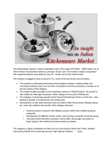 An insight into the Indian Kitchenware Market