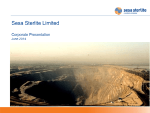 Sesa Sterlite - Corporate Presentation