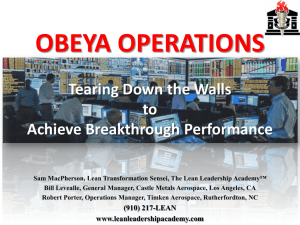 obeya operations - Lean Leadership Academy