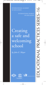 Creating a safe and welcoming school