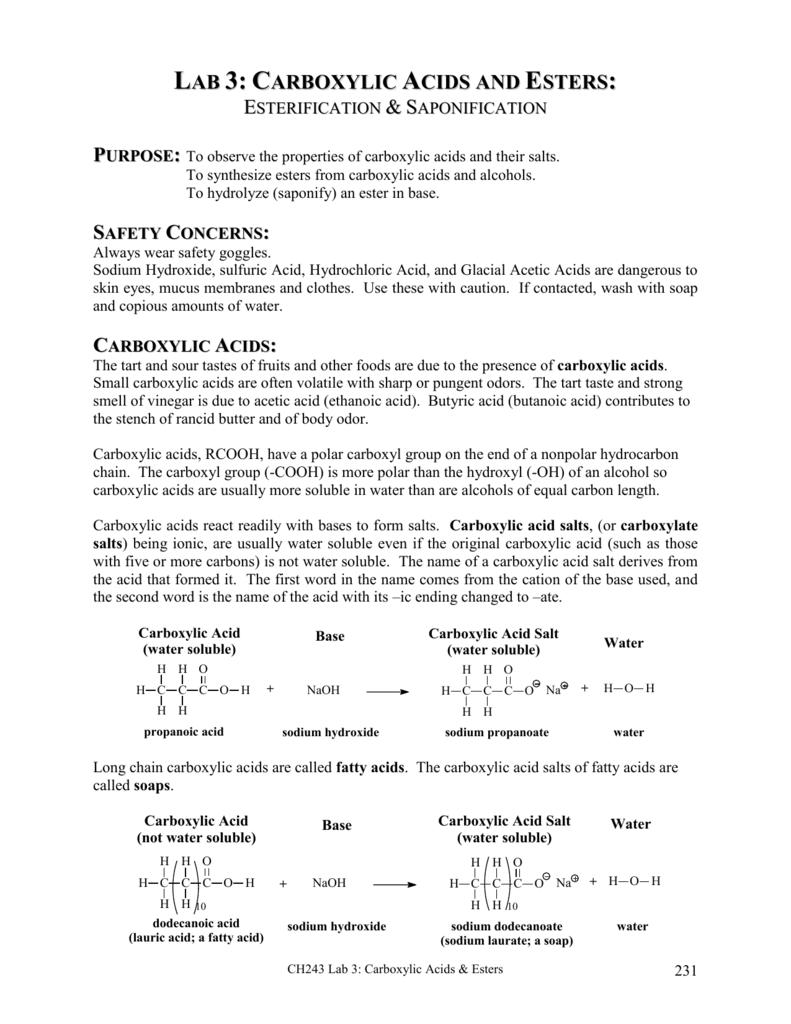 carboxylic acids - faculty at Chemeketa