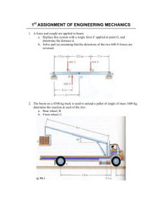 1st ASSIGNMENT OF ENGINEERING MECHANICS
