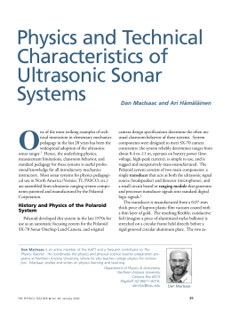 Physics and Technical Characteristics of Ultrasonic Sonar Systems