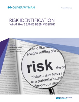 Risk Identification-What Have Banks Been Missing?