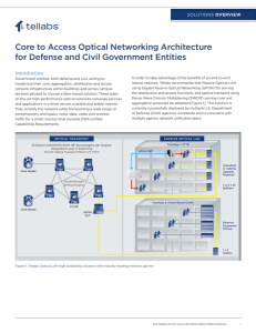 Core to Access Optical Networking Architecture for