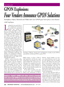 Entrisphere, Fujitsu, Motorola and Tellabs show new GPON gear