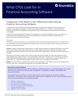 What CFOs Look for in Financial Accounting Software