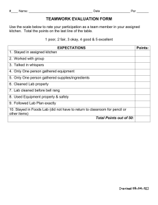 TEAMWORK EVALUATION FORM