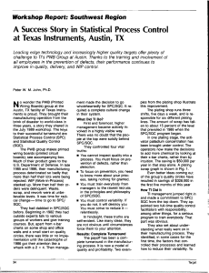 A Success Story in Statistical Process Control at Texas Instruments