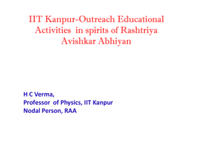 IIT Kanpur - Outreach Educational Activities in spirits of