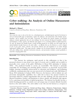 an analysis of stalking and the criminal justice system College student perceptions of criminal justice perceptions of criminal justice system response potential criminal justice system response to stalking.