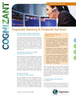 Cognizant Banking & Financial Services