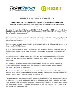 JOINT PRESS RELEASE – FOR IMMEDIATE RELEASE