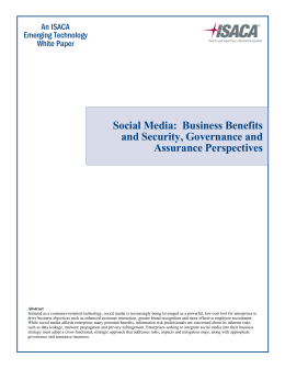 Social Media: Business Benefits and Security