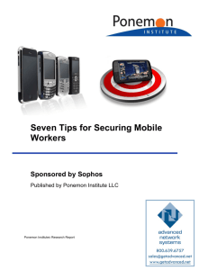 Sophos Mobile Security - Advanced Network Systems