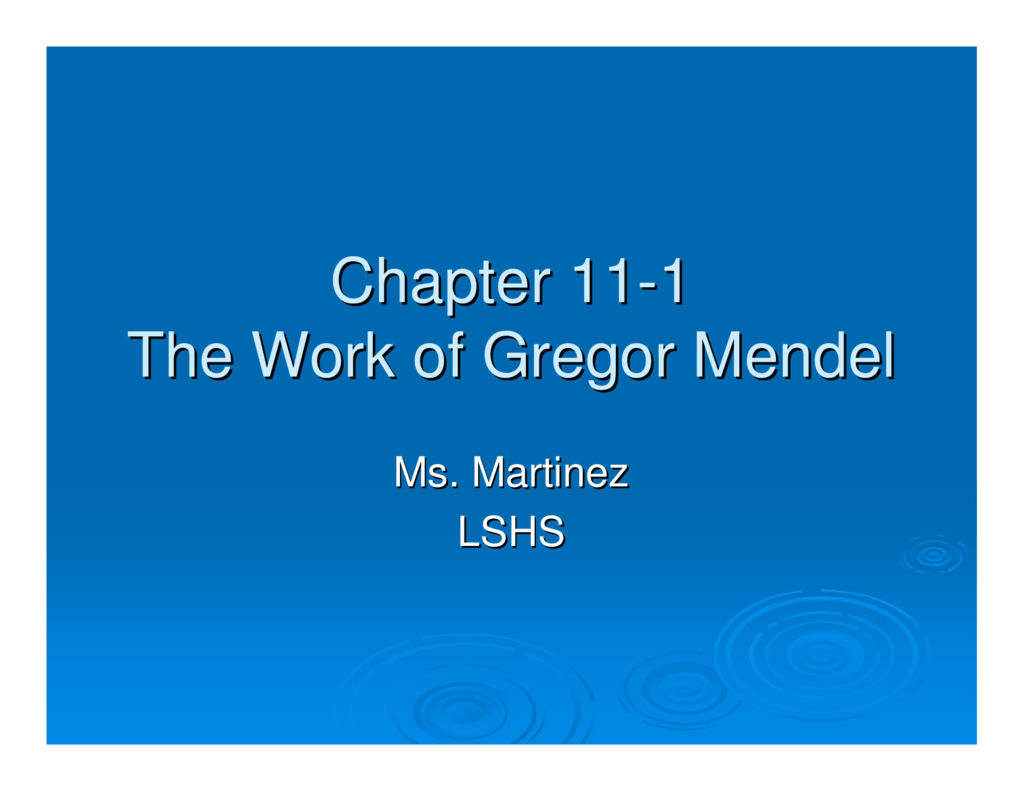 an introduction to the life of gregor mendel Gregor mendel: the friar who grew contemplative life of a friar, gregor mendel was able and his famous experiments are easy to understand as an introduction.