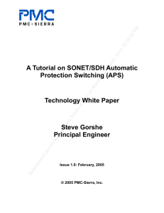 Tutorial on SONET/SDH Automatic Protection Switching (APS)