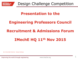 Design Challenge Competition - Engineering Professors' Council