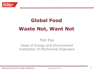 Global Food Waste Not, Want Not