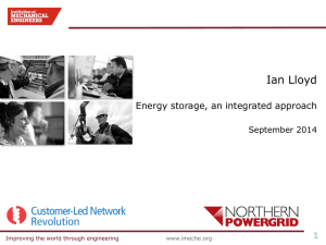 IMechE Conference Presentation: Energy Storage 2014