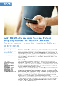 With TIBCO, dm-drogerie Provides Instant Shopping Rewards for