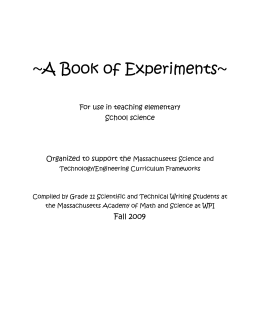 A Book of Experiments