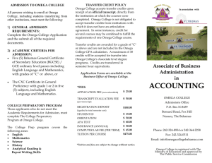 accounting - Omega College